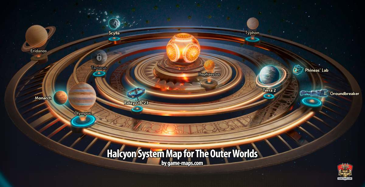 سیاره های موجود در بازی The Outer Worlds