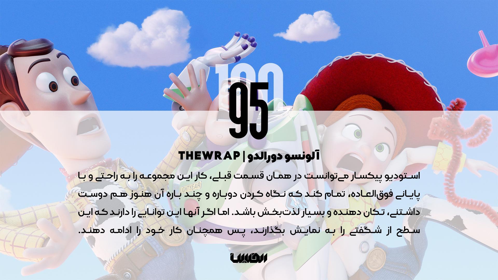 نظر منتقدان درباره انیمیشن داستان اسباب بازیهای 4 - آلونسو دورالدو TheWrap